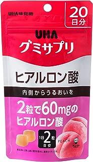 UHAグミサプリ ヒアルロン酸 ピーチ味 スタンドパウチ 40粒 20日分