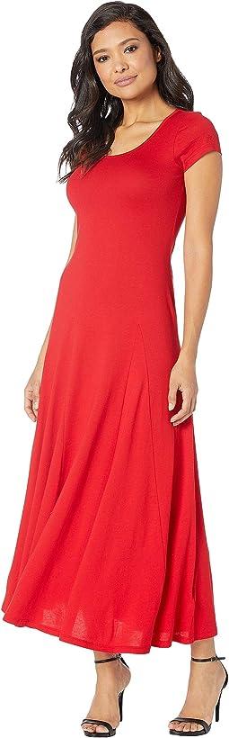 Jersey Scoop Neck Maxi Dress