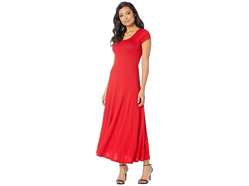LAUREN Ralph Lauren Jersey Scoop Neck Maxi Dress (Lipstick Red) Women