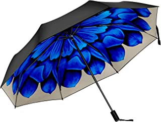 FJMOD 日傘 折りたたみ 傘 軽量 晴雨兼用 UVカット率99.9% 耐風撥水完全遮光 折り畳み傘 レディース 可愛 人気 梅雨対策通勤 通学 (あじさい)