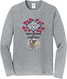 Tenacitee Mens Living in Minnesota with Iowa Roots T-Shirt