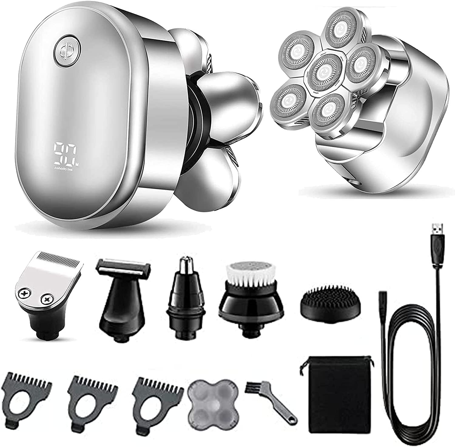 Over item handling Electric Shaver Razor For Men Trimmer Beard Hair Rotary We OFFer at cheap prices Body