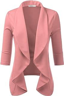 Women's Lightweight Office Cardigan Open Front Blazer with Plus Size