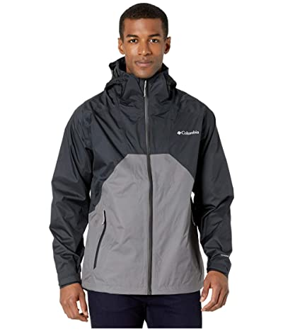 Columbia Rain Scape Jacket (Black/Black/City Grey/Black Zips) Men
