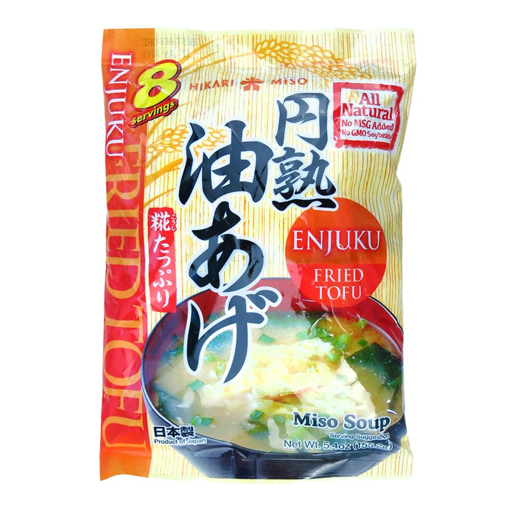 famous Hikari Industry No. 1 Miso Instant Soup Tofu Fried 5.14 Ounce