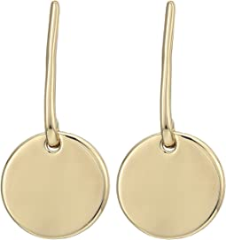 LAUREN Ralph Lauren - Minimal Metal Circular Drop Earrings