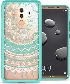 Huawei Mate 10 Pro Case Cover, CoverON, Clear Back Panel, Teal Mandala Bumper