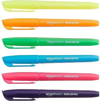 AmazonBasics Highlighter or Marker - Chisel Tip, Pack of 24 (Multicolor)