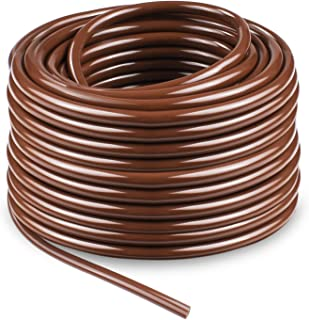 """KORAM Drip Irrigation 1/4"""" Blank Distribution Tubing Drip Watering Hose 100ft Roll with Plant Garden Labels"""