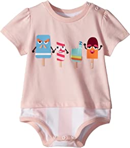 Fendi Kids Short Sleeve Bodysuit w/ Ice Cream Design (Infant)