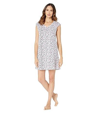 Karen Neuburger Dangerous Beauty Short Sleeve Nightshirt (Ditsy Bird Soft White) Women