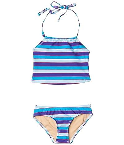 Toobydoo Tankini Set (Toddler/Little Kids/Big Kids) (Blue Multi Stripe) Girl