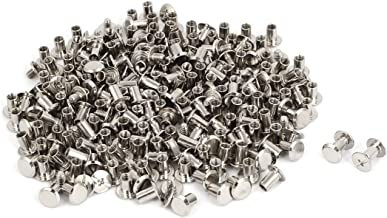 sourcingmap/® M5x5mm Cuir Albums M/étal Ongle Rivets Chicago Post vis Contraignant 100pcs