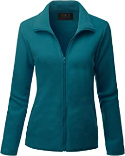 Doublju Womens Long Sleeve Full-Zip Poly Fleece Thermal Basic Jacket