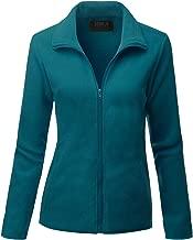 Doublju Womens Full Zip Fleece Jacket With Pockets (Plus Size Available)