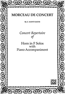 Alfred Morceau de Concert for French Horn By Camille Saint-Saens Book