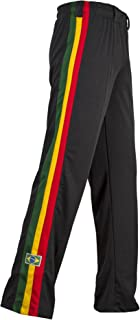 JL Sport Authentic Brazilian Capoeira Martial Arts Pants - Unisex (Jamaican, Reggae)