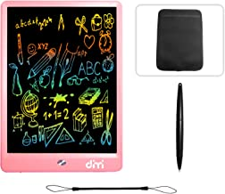 10 inch LCD Writing Tablet,Colorful Screen Electronic Writing Board Doodle Pads Drawing Board Gifts for Kids + Erase Button Lock Included(Pink +Case+ Lanyard)