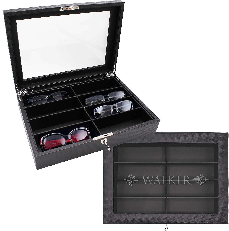 My Personal Memories Custom Personalized Multiple Sunglasses, Eyeglass, Eyewear Cases Organizer Box, 8 Slots
