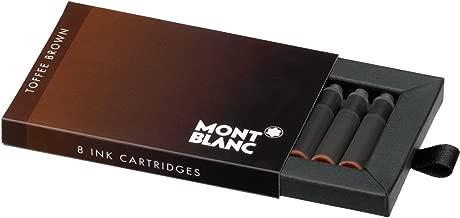 Montblanc Ink Cartridges Toffee Brown 105189 – Short International Standard Fountain Pen Refills in Chocolate Brown – 8 Pen Cartridges