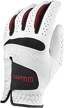 Wilson Feel Plus Left-Hand Golf Glove, Men, White, Medium Large