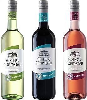 Schloss Sommerau Alkoholfreier Wein 3er Paket - Weisswein, Rotwein, Rosewein ohne Alkohol 3 x 750ml