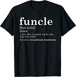 Mens Funcle T-Shirt Funny Uncle Father's Day Gift Birthday Gag