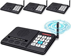 Intercoms Wireless for Home - GLCON Long Range 1 Mile Wireless Intercom System 10 Channel 3 Code - Room to Room Home Intercom System for Business House Office Gate Restaurant Elderly (Pack of 4)