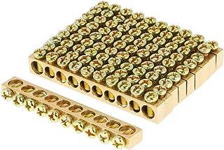 YOPOTIKA 10Pcs 10- Gat Elektrische Distributie Draad Schroef Terminal Messing Grond Neutrale Bar Gouden