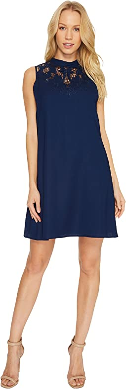 CeCe - Ava - Sleeveless Embroidered A-Line Dress