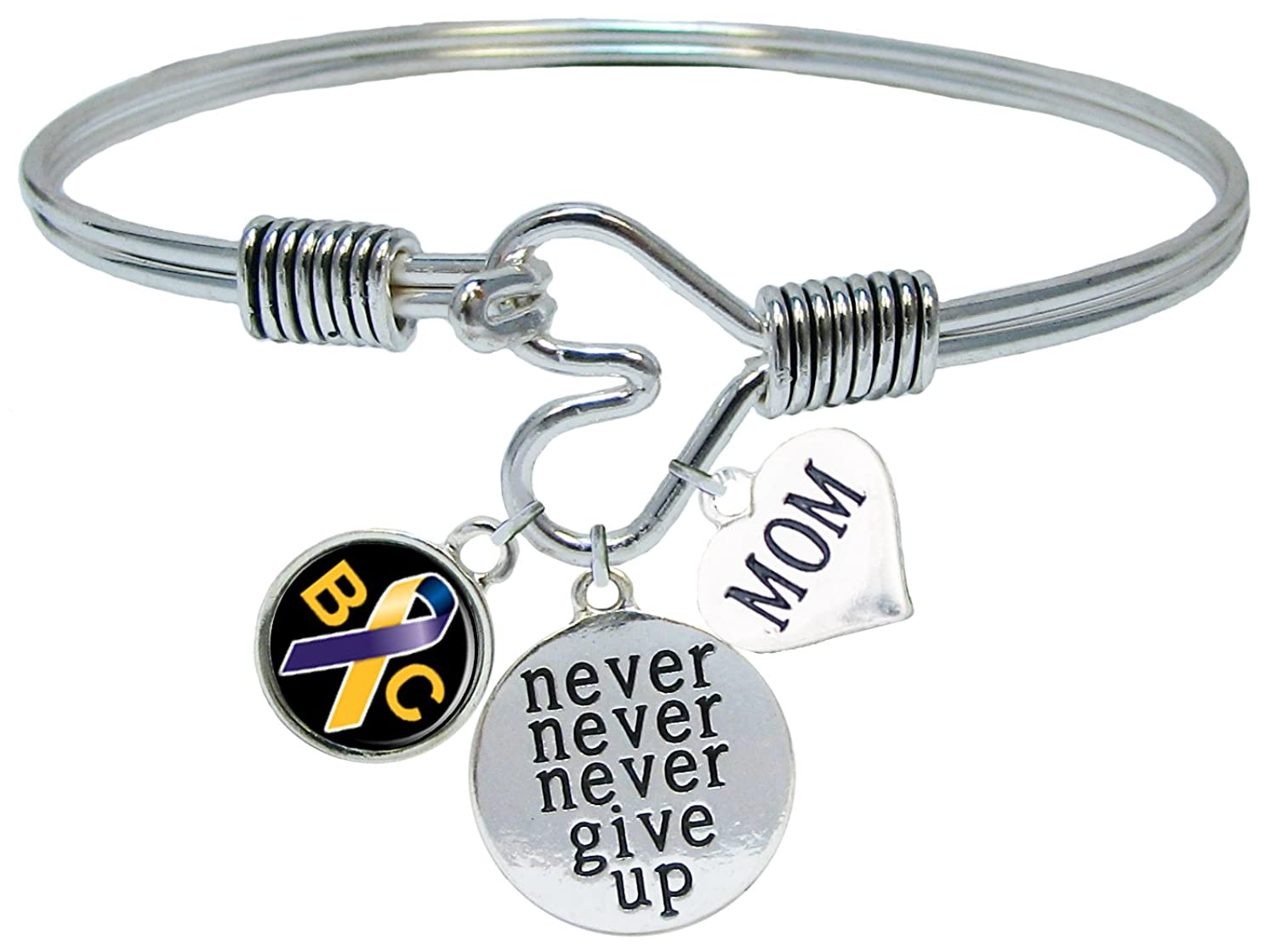 Sports Accessory Store Custom Bladder Cancer Awareness Never Give Up Choose MOM OR DAD Charm ONLY Bracelet Jewelry rrakrv8293040