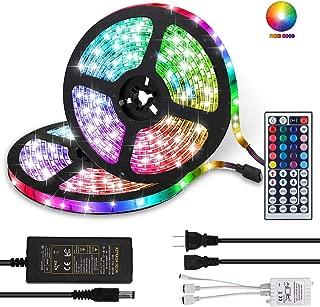 LED Strip Lights, Daufri 32.8FT/10M RGB DC 12V LED Light Strip SMD5050 300 LEDs Waterproof Color Changing Flexible LED Strip Kit for Room, Bedroom, TV, Kitchen, Desk