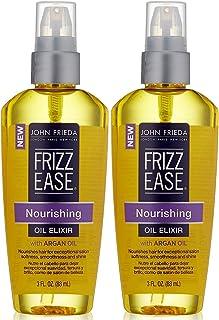 (2 Pack)-John Frieda Frizz Ease Nourishing Elixir Oil, 3 Fluid Ounce