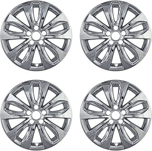 lowest 18 inch discount Hubcap Wheel Skins for 2010-2013 Hyundai Sonata-(Set of outlet sale 4) Wheel Covers- Car Accessories for 18inch Chrome Wheels- Auto Tire Replacement Exterior Cap Cover outlet sale