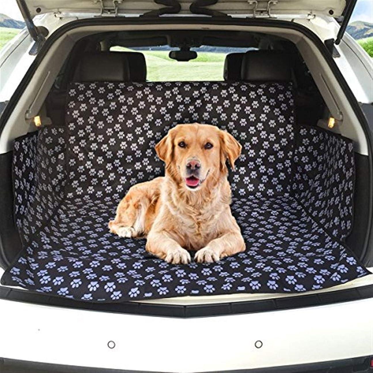 歌うハシー木材JSFQ 犬用カーブーツカバーカーブーツライナープロテクター防水ブーツプロテクターマットサイドプロテクション付きトランクドッグカバーほとんどの車、SUV、バン、トラックに適合(かわいい犬の爪)