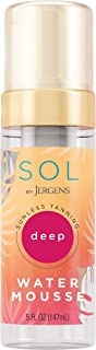 SOL by Jergens Deep Water Mousse, Water-based Self Tanner with Coconut Water, Tanning Water, Dye-free Sunless Tanning Foa...