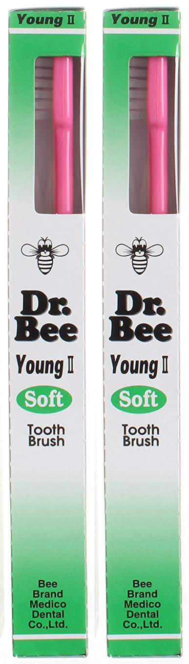 断言する知性違うビーブランド Dr.Bee 歯ブラシ ヤングII ソフト【2本セット】