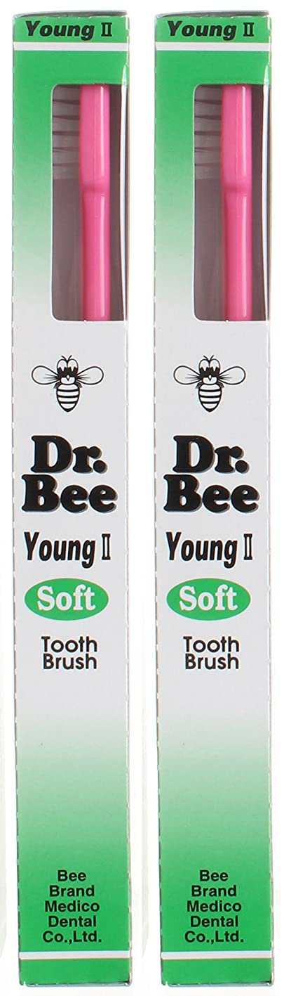 等しい解任フラップビーブランド Dr.Bee 歯ブラシ ヤングII ソフト【2本セット】
