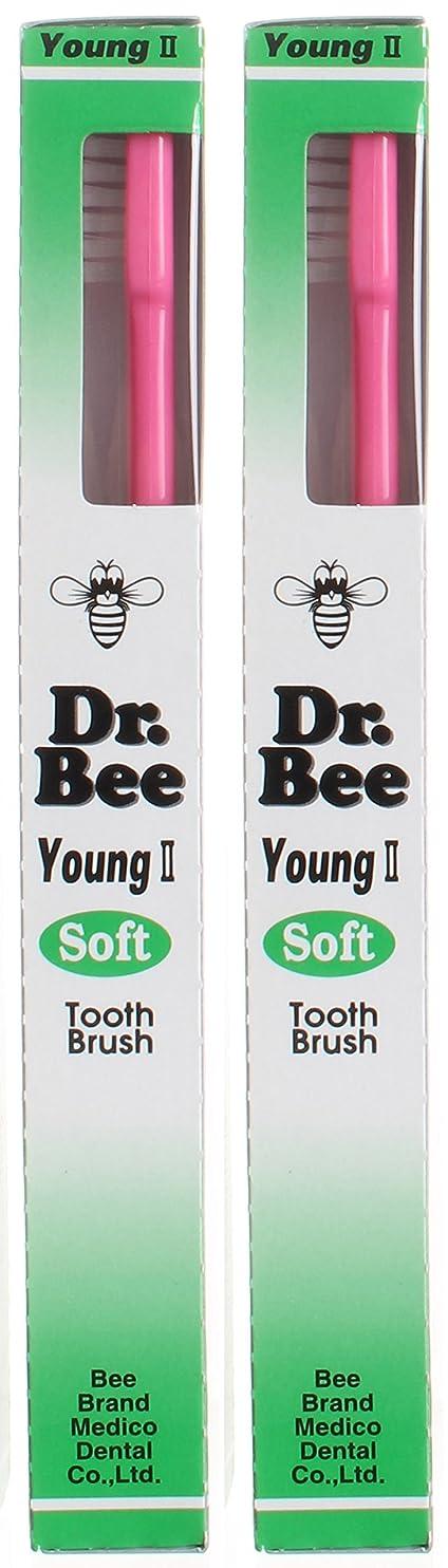 遺棄された差別的コンピューターゲームをプレイするビーブランド Dr.Bee 歯ブラシ ヤングII ソフト【2本セット】