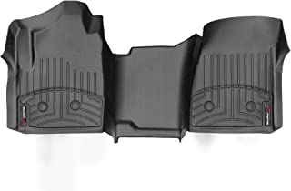 WeatherTech Custom Fit FloorLiner - 449531V - 1st Row - Over The Hump (Black)