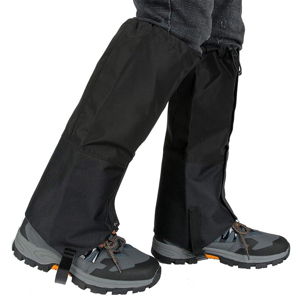 時刻表最小化する機構登山ゲイター スパッツ 防水 ロングスパッツ トレッキング