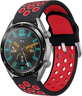 AOTVIRIS Kompatibel med armband Huawei Watch GT 2 46 mm/Huawei Watch GT Sport/Active/Classic/Fashion/Elegant (42 mm), 22 m...