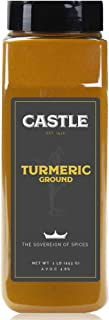 Castle Foods | TURMERIC GROUND, 16 oz Premium Restaurant Quality, NonGMO
