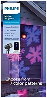 Philip Christmas LED Motion Snowflake Projector with Remote - Multicolored