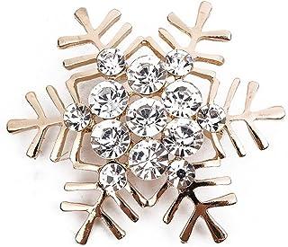 Cosanter Natale Fiocco di Neve Spilla Pin Intarsiato Strass Corpetto Coperto Sciarpe Scialle Clip per Le Donne delle Signo...