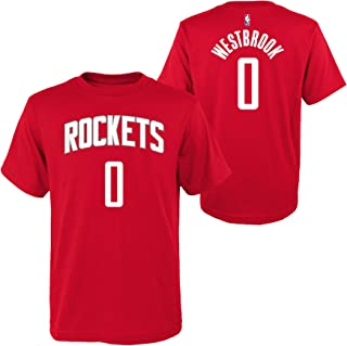 Outerstuff Russell Westbrook Houston Rockets #0 Youth Player Name & Number T-Shirt Red