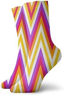 AEMAPE, Calcetines deportivos acolchados con imagen de composición de rayas Essential Sport Wicking Work para hombres y mujeres