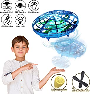 98K Hand Operated Drones for Kids or Adults, Light Up Joy Flying Ball Drone, Helicopter Mini Drone, Easy Indoor Small Flyi...