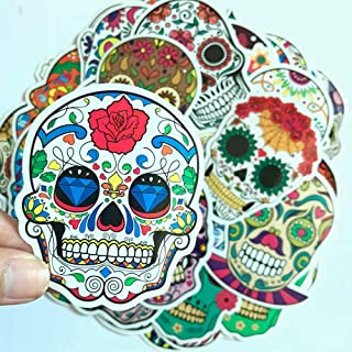 Best dia de los muertos skull sticker Reviews