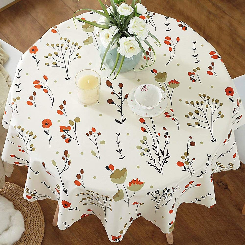 echa un vistazo a los más baratos WENYAO Tablecloth Northern Europe Round Round Round Tablecloth Small Round tablecloths Waterproof Anti-Hot Oil-Proof Household Round tabmat,H_Diameter 100cm  en venta en línea